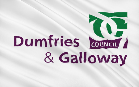 uplands: Flag of Dumfries and Galloway is one of 32 unitary council areas of Scotland and is located in the western Southern Uplands