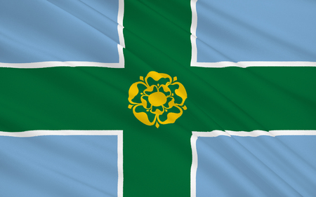 derbyshire: Flag of Derbyshire is a county in the East Midlands of England