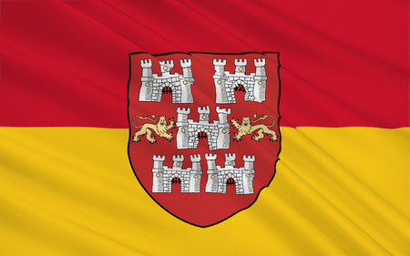 Flag of Winchester is a city and the county town of Hampshire of England in the United Kingdom.