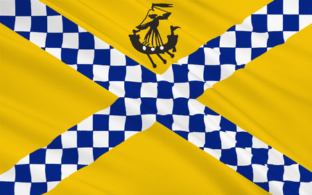 orientated: Flag of East Renfrewshire is one of 32 council areas of Scotland