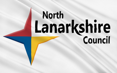 orientated: Flag of North Lanarkshire is one of 32 council areas of Scotland.