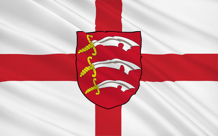 immediately: Flag of Essex is a county in England, immediately north-east of London