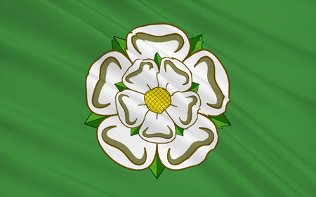 yorkshire and humber: Flag of North Yorkshire is a non-metropolitan or shire and ceremonial county in England Stock Photo