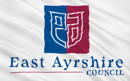orientated: Flag of East Ayrshire is one of thirty-two council areas of Scotland.