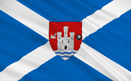 orientated: Flag of Ayr is a large town and former Royal Burgh sitting along the west coast of Ayrshire in Scotland.