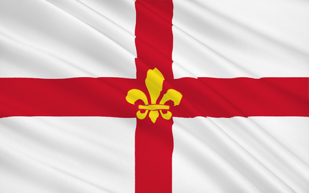yorkshire and humber: Flag of Lincoln is a cathedral city and the county town of Lincolnshire, within the East Midlands of England