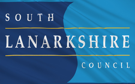 orientated: Flag of South Lanarkshire is unitary authorities of Scotland, United Kingdom of Great Britain