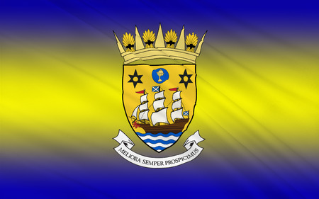 local government: Flag of Inverclyde is one of 32 council areas used for local government in Scotland. Stock Photo