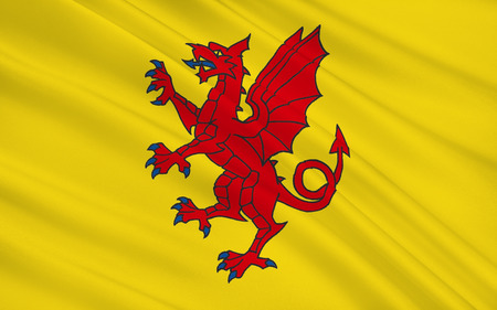 south west england: Flag of Somerset is a county in South West England Stock Photo