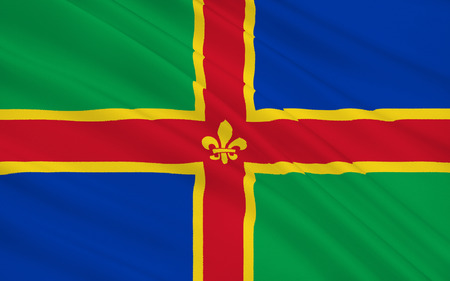 yorkshire and humber: Flag of Lincolnshire is a historical county in the east of England