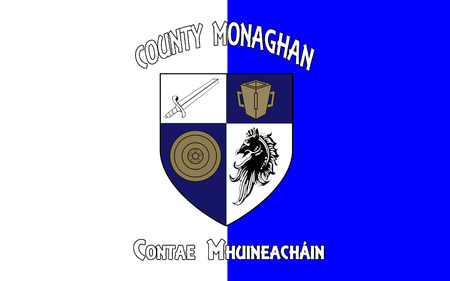 contae: Flag of County Monaghan is a county in Ireland. It is part of the Border Region and is in the province of Ulster.
