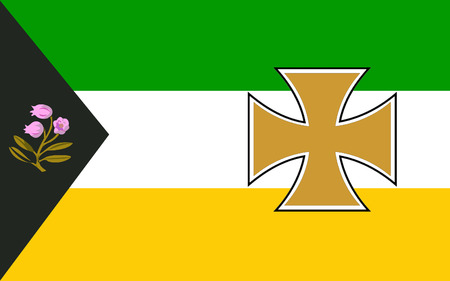 contae: Flag of County Offaly is a county in Ireland. It is part of the Midlands Region and is also located in the province of Leinster.