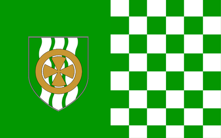 pledge of allegiance: Flag of County Limerick is a county in Ireland. It is located in the province of Munster, and is also part of the Mid-West Region. Limerick City and County Council is the local council for the county. Stock Photo