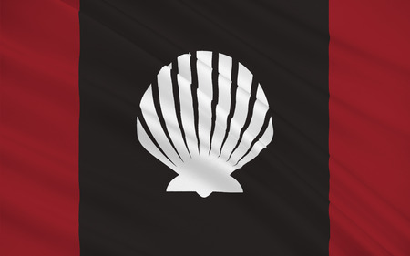 sligo: Flag of County Sligo is a county in Ireland. It is located in the Border Region and is also part of the province of Connacht. Sligo County Council is the local authority for the county. Stock Photo