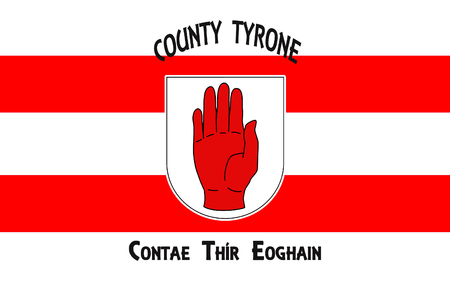 Flag of County Tyrone is one of the six counties of Northern Ireland