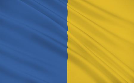 llegar tarde: Bandera del condado de Wicklow es un condado en Irlanda. El �ltimo de los 32 condados tradicionales que ha de formarse, tan tarde como en 1606, es parte de la regi�n de Oriente Medio-y tambi�n se encuentra en la provincia de Leinster Foto de archivo