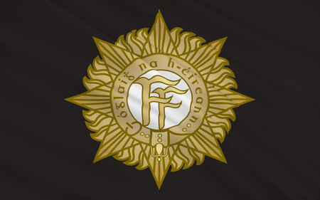establishment states: Flag Army of Ireland, also known as the Republic of Ireland, is a sovereign state in north-western Europe occupying about five-sixths of the island of Ireland.