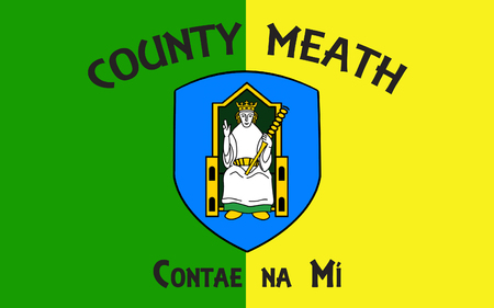 leinster: Flag of County Meath is a county in Ireland. It is in the province of Leinster and is part of the Mid-East Region. It is named after the historic Kingdom of Meath. Meath County Council is the local authority for the county. Stock Photo