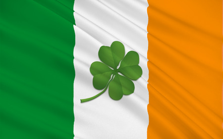 pledge of allegiance: Flag of Ireland, also known as the Republic of Ireland, is a sovereign state in north-western Europe occupying about five-sixths of the island of Ireland.