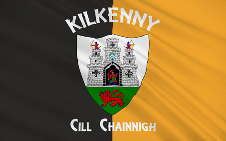 pledge of allegiance: Flag Kilkenny is a city located in south-east part of Ireland and the county town of County Kilkenny Stock Photo