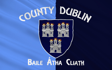 leinster: Flag County Dublin is a county in Ireland. It is conterminous with the Dublin Region and is in the province of Leinster