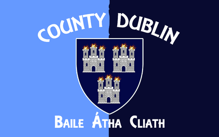 pledge of allegiance: Flag County Dublin is a county in Ireland. It is conterminous with the Dublin Region and is in the province of Leinster