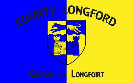 contae: Flag of County Longford is a county in Ireland. It is part of the Midlands Region and is also located in the province of Leinster.