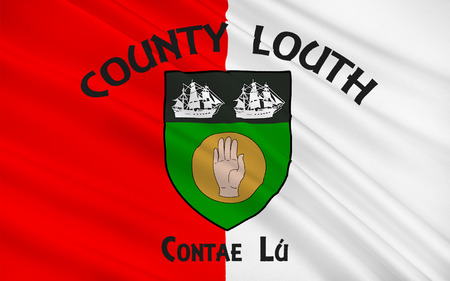leinster: Flag of County Louth in Ireland. It is in the province of Leinster and is part of the Border Region.