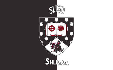 pledge of allegiance: Flag of County Sligo is a county in Ireland. It is located in the Border Region and is also part of the province of Connacht. Sligo County Council is the local authority for the county. Stock Photo