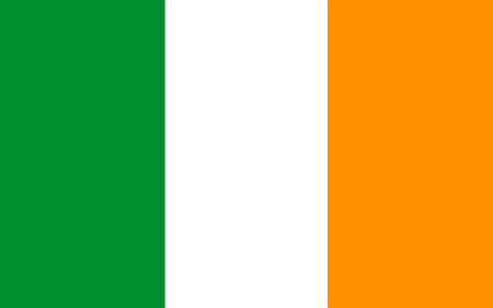 Flag of Ireland, also known as the Republic of Ireland, is a sovereign state in north-western Europe occupying about five-sixths of the island of Ireland.