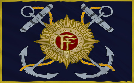 establishment states: Flag Naval Service of Ireland, also known as the Republic of Ireland, is a sovereign state in north-western Europe occupying about five-sixths of the island of Ireland.