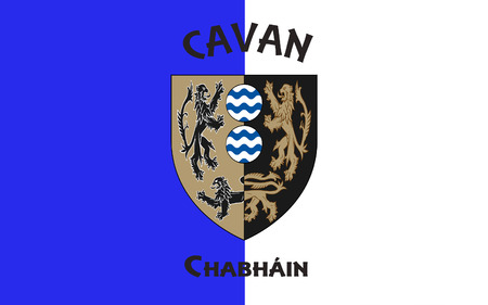 Flag of County Cavan is a county in Ireland. It is in the province of Ulster and is part of the Border Region