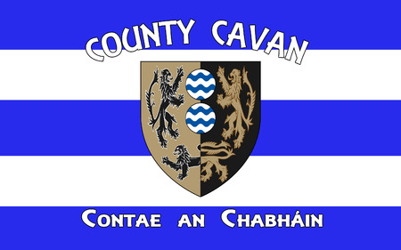 irish culture: Flag of County Cavan is a county in Ireland. It is in the province of Ulster and is part of the Border Region