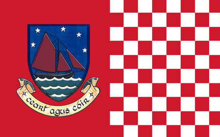 Flag of County Galway is a county in the West of Ireland in the province of Connacht. It is named after the city of Galway. Galway County Council is the local authority for the county.