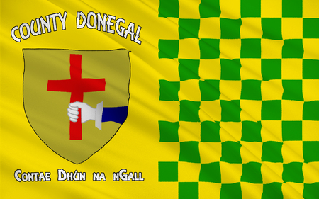 contae: Flag of County Donegal is a county in Ireland. It is part of the Border Region and is in the province of Ulster.