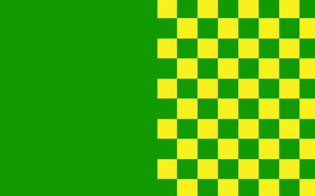 gaelic: Flag of County Leitrim is a county in Ireland. It is named after the village of Leitrim and is based on the historic Gaelic territory of West Breifne. Stock Photo