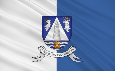 Flag of County Waterford is a county in Ireland. It is part of the South-East Region and is also located in the province of Munster.