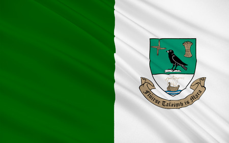 leinster: Flag of Fingal is a county in Ireland. It is located in the province of Leinster and, within that, is part of the Dublin Region. Stock Photo