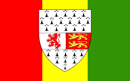 leinster: Flag of County Carlow is a county in Ireland. It is part of the South-East Region and is also located in the province of Leinster Stock Photo