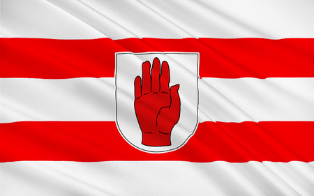 counties: Flag of County Tyrone is one of the six counties of Northern Ireland