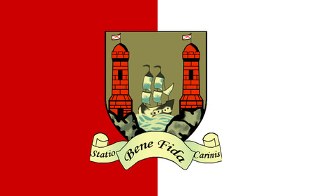 Flag of County Cork is the largest and southernmost county in Ireland. Located in the province of Munster, it is named after the city of Cork. Cork County Council is the local authority for the county. Its largest towns are Cork City, Carrigaline, Midleto