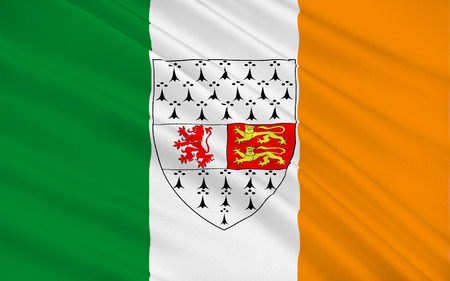contae: Flag of County Carlow is a county in Ireland. It is part of the South-East Region and is also located in the province of Leinster Stock Photo