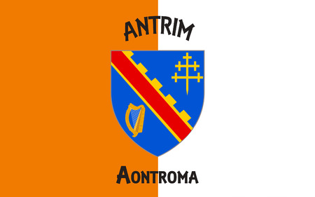 contae: Flag of County Armagh (named after its county town, Armagh) is one of six counties that form Northern Ireland and one of the 32 traditional counties of Ireland, situated in the northeast of the island.