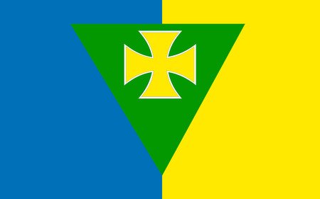 pledge of allegiance: Flag of County Roscommon is a county in Ireland. It is located in the province of Connacht, and also the West Region. Stock Photo