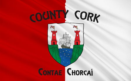 pledge of allegiance: Flag of County Cork is the largest and southernmost county in Ireland. Located in the province of Munster, it is named after the city of Cork. Cork County Council is the local authority for the county. Its largest towns are Cork City, Carrigaline, Midleto