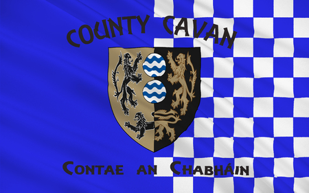 contae: Flag of County Cavan is a county in Ireland. It is in the province of Ulster and is part of the Border Region