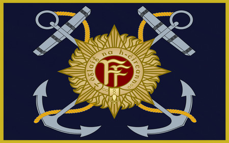 Flag Naval Service of Ireland, also known as the Republic of Ireland, is a sovereign state in north-western Europe occupying about five-sixths of the island of Ireland.