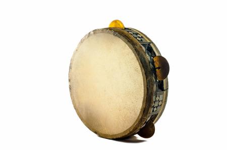 instrumentos musicales: Instrumento musical - pandereta egipcia en piel de camello