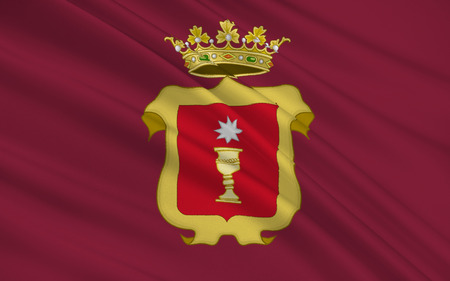castilla: Flag of Cuenca is a city in the autonomous community of Castile?La Mancha in central Spain. It is the capital of the province of Cuenca. Stock Photo