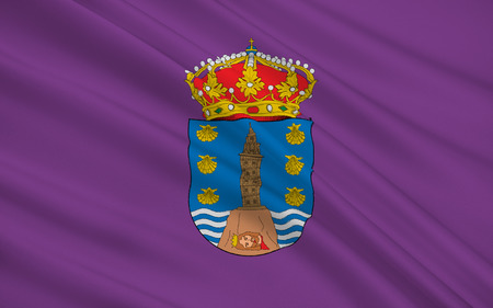 northwestern: Flag of La Corunna is the province in North-western Atlantic of Spain, and one of the four provinces which constitute the autonomous community of Galicia